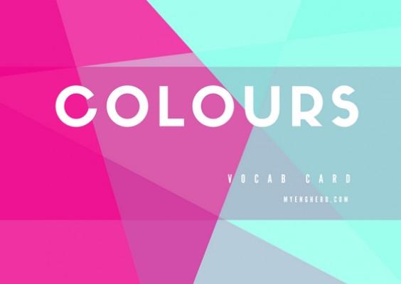 ชุดคำศัพท์ สี (Colours) | Eng Hero เรียนภาษาอังกฤษ ออนไลน์ ฟรี